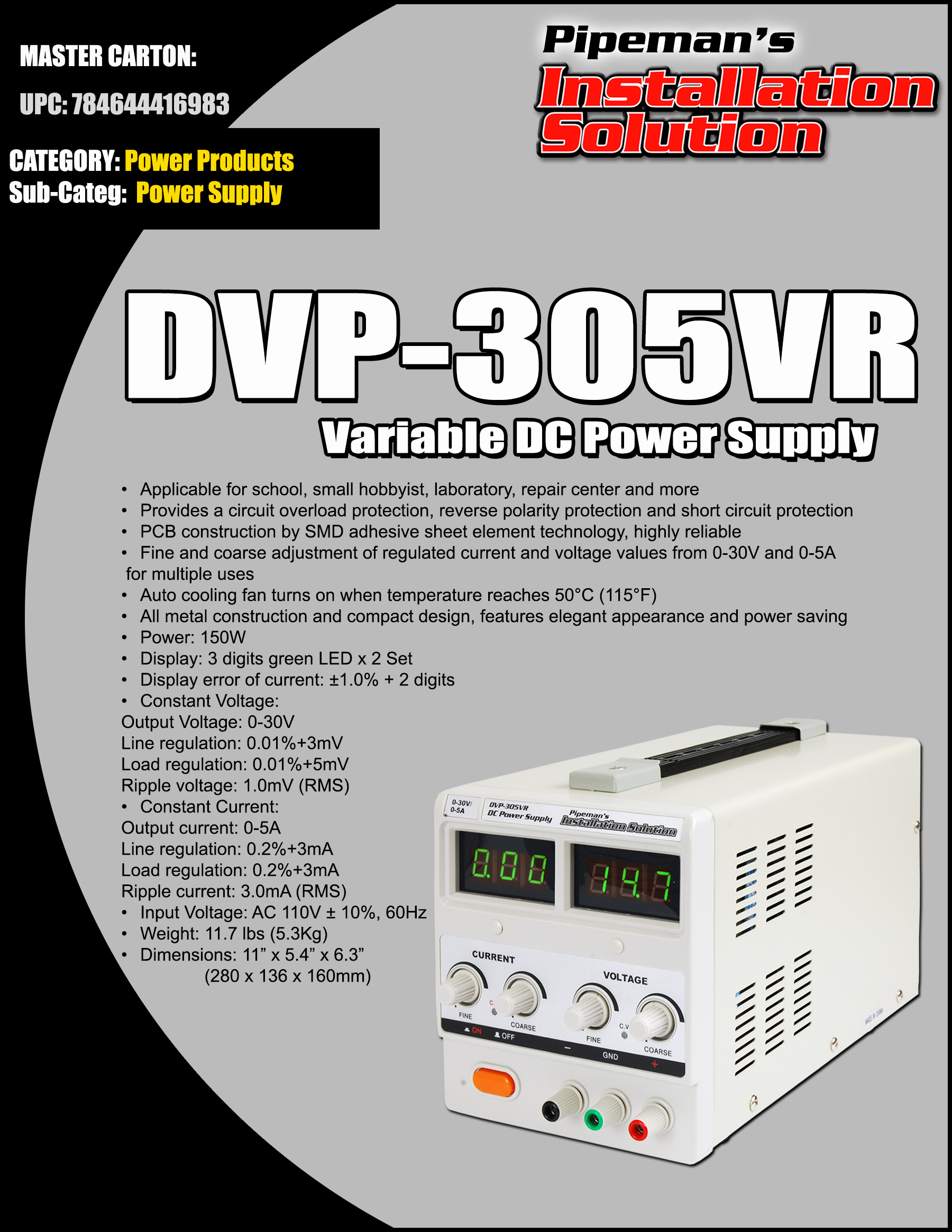 Audio Lab Of Ga 0 30 Vdc Stabilized Power Supply With Current Control 0002 Details Nippon Variable Dc
